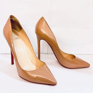 Louboutin PIGALLE 120 Nude Patent Pump